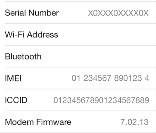 cách ckeck imei iphone